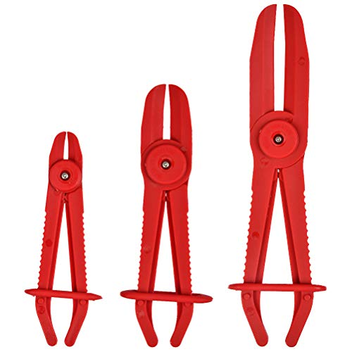OFNMY Schlauchklemmenzange Schlauchklemmen Zange Schlauch Klemmzange Abklemmzange zum Abklemmen von Kühlschläuchen, Brems- und Benzinleitungen(3 Stück)