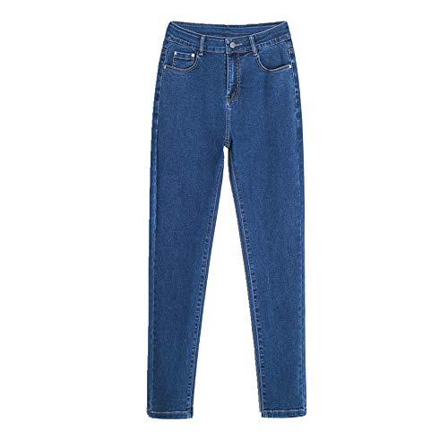 N\P Spring High-Waist - Pantalones vaqueros de cintura baja para mujer azul S