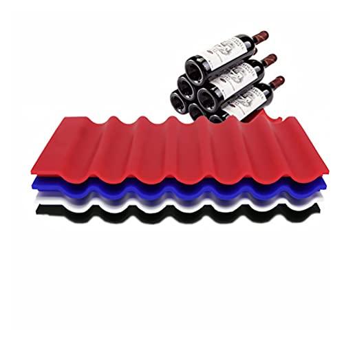 Uonlytech Silikon Bierflaschen Stapler Küchenschrank Kühlschrank Lagerregal Weinflaschenhalter 7 Fälle Kühlschrank Affenmatte für Zuhause Kitcken (Zufällige Farbe)