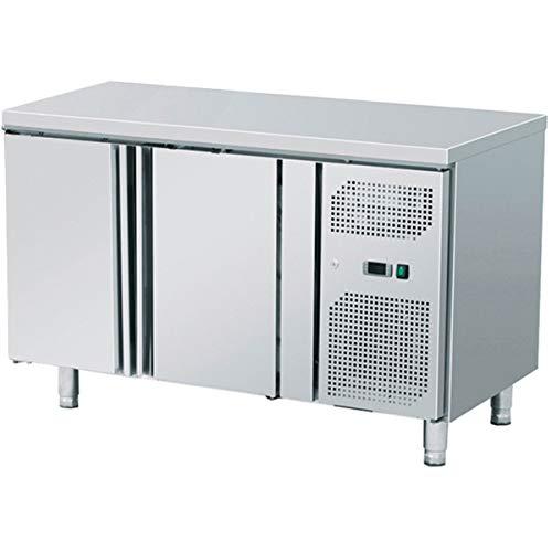 ZORRO- Kühltisch ZGN 2100 2 Türen - Gastro Saladette mit Arbeitsfläche und Füßen - Digitales Thermostat - Edelstahl