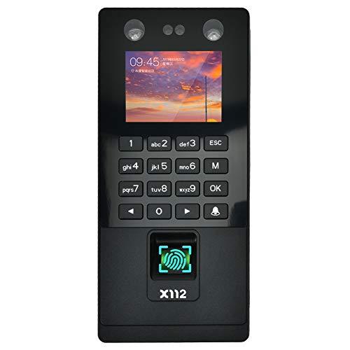 Máquina de control de acceso de huellas dactilares con pantalla HD de 2.8 pulgadas, reconocimiento de rostro/huella digital/contraseña/deslizamiento de tarjetas de identificación(X112)