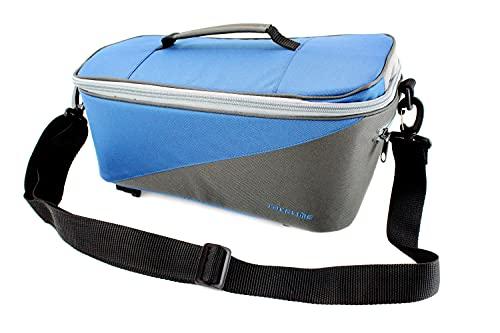 Racktime Unisex– Erwachsene Talis Gepäckträgertasche, blau, 37 x 23 x 18 cm