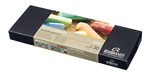 Rembrandt Soft Pastel Cardboard Box Set - 30 Half Stick General Selection - Art Supplies