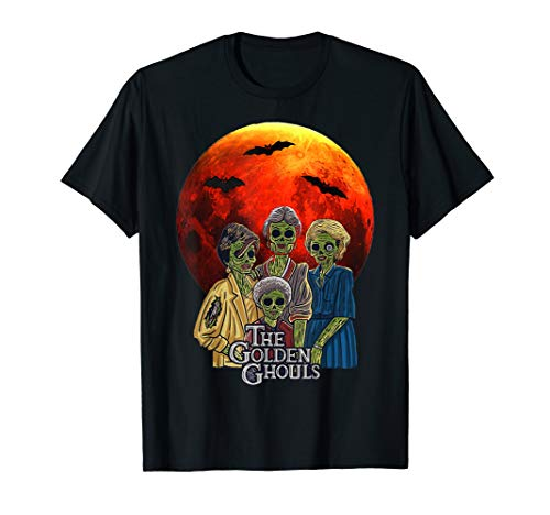 The Golden Ghouls Halloween T-shirt for Adults or Kids, Many Colors