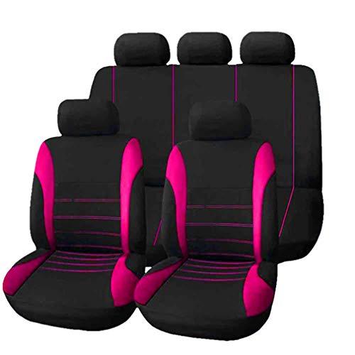 HotYou Copri-sedili Auto Universale | Set Copri-Sedile Universali per Anteriori e Posteriori | Accessori Auto Interno,Rimovibile e Lavabile,Rosa