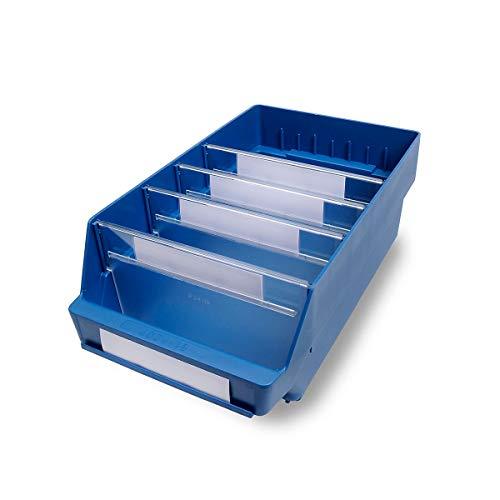 STEMO Regalkasten aus hochschlagfestem Polypropylen - blau - LxBxH 400 x 240 x 150 mm, VE 10 Stk - Kasten Kunststoff-Regalkasten Kunststoff-Regalkästen Kunststoffregalkasten Kunststoffregalkästen
