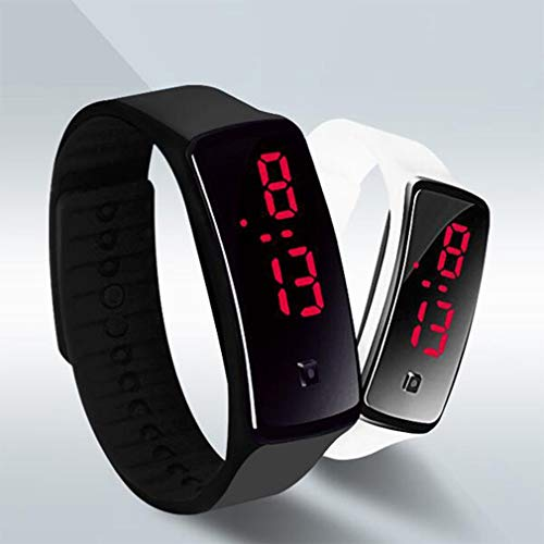 Nsdsb Mode Silikon Gel Led Armbanduhr Armband Unisex Männer Frauen Armband Schwarz