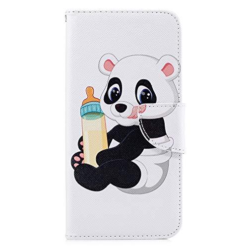 Lederhülle für Sony Xperia L4 Flip Hülle Wallet Case Handyhülle PU Leder Flipcase Handytasche Tasche Case Brieftasche Kartensteckplätzen Silikon Schutzhülle Schale für Sony Xperia L4 Spanferkel