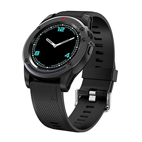 Sutinna Sports Smart Watch for Hombres y Mujeres, Pantalla táctil de Bluetooth Smartwatch Smartwatch, con cámara y Ranura for Tarjeta SIM, Compatible con iOS y Android (Color : Black)