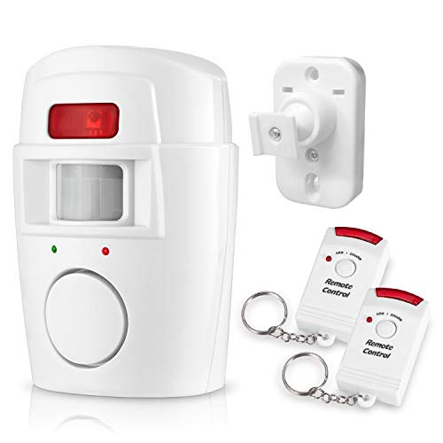 Mbangde Wireless Security Alert Alarm Indoor/Outdoor Wall Mounted PIR Infrared Motion Sensor Detector Anti-theft System Kit With 2 Remote Controllers