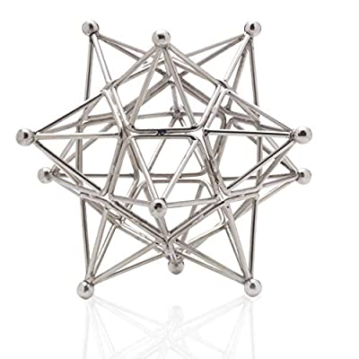 Scott Living Luxe Metal Star Decorative Stand, 7 inch, Silver