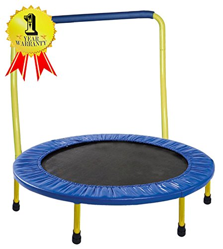 Portable & Foldable Trampoline - 36 Dia. Durable Construction Safe for Kids with...