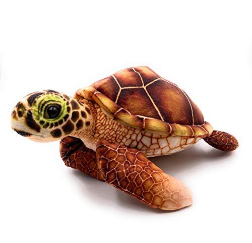 Onwomania Plüschtier Stofftier Kuscheltier Kriechtier Schildkröte Meeresschildkröte Braun