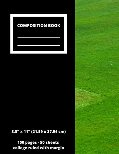 """Composition Notebook for College Students & K-12 grade School Students, 1 Subject, 8.5"""" x 11"""", College Ruled paper, 100 Pages, 50 Sheets, with ... shopping lists, planning & recipes."""