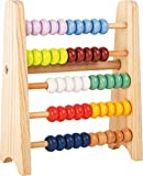 small foot company- Pequeña Regla de cálculo para Llevar Educate, Hecha de Madera FSC 100% certificada, con Cinco Filas Juguetes, Multicolor (Small Foot by Legler 11168)