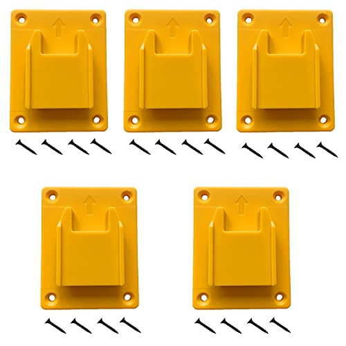 UOSXVC 5Packs Tool Holders for Dewalt 20V Drill Tool Mount Fit for Milwaukee M18 Tools (Yellow)