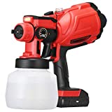 Vogvigo Cordless Electric Sprayer, Paint Sprayer, HVLP Spray Gun, with 3 Spraying Modes 1200 ML Removable Container Easy Spraying and Cleaning for Tables Chairs Fences Interior Walls Crafts
