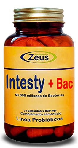 INTESTY+BAC | Contribuye a equilibrar y regular la microbiota intestinal | Complemento Alimenticio a base de Fibersol®- 2, L-Glutamina, Probióticos y Vitamina B6 | 90 Cápsulas Vegetales