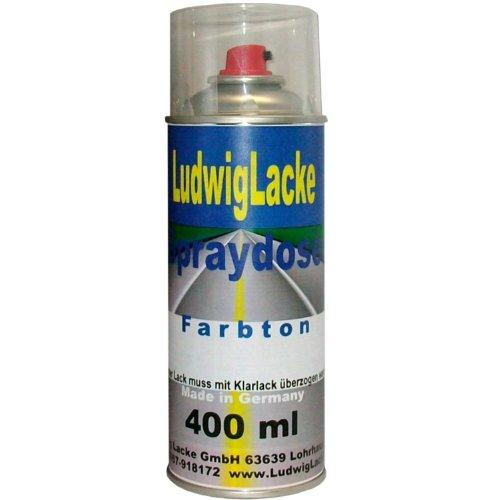 Bombe aérosol peinture de voiture, couleur : «Poly Silver» (gris métallisé), code couleur : 92U, années de construction 2005-2011, Vernis monocomposant à effet métallisé pour voitures, 400 ml (convient pour Chevrolet)