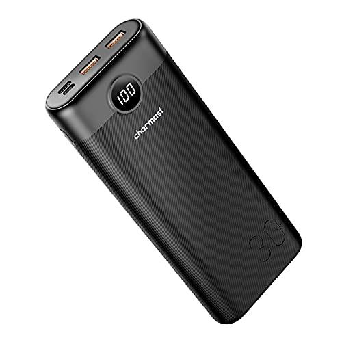 Charmast Power Bank 30000mAh Bateria Externa Carga Rápida con 3 Salida y 2 Entrda Compatible con Smartphones, Tablets y más