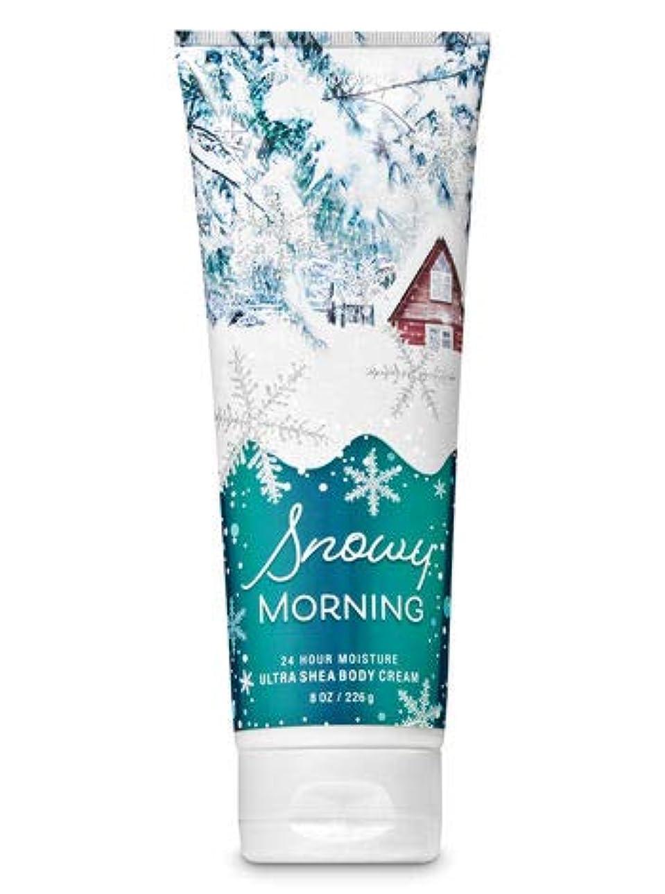 市の中心部レモン放つ【Bath&Body Works/バス&ボディワークス】 ボディクリーム スノーウィーモーニング Ultra Shea Body Cream Snowy Morning 8 oz / 226 g [並行輸入品]