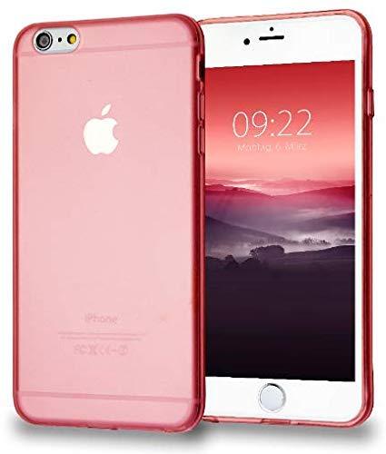 MyGadget Funda Slim para Apple iPhone 6 / 6s en Silicona TPU – Anti Polvo – Carcasa Protectora Ultra Delgada 1mm Transparente Cómoda y Ligera - Rosa