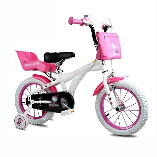 GUOCAO Kinderfahrrad Mountainbike Student Travel Werkzeuge Mädchen-Karikatur-nettes Fahrrad 12 Zoll Fahrrad-schönes Geschenk (Farbe: weiß, Größe: 12INCH (90CM * 30CM * 58CM)) Draussen