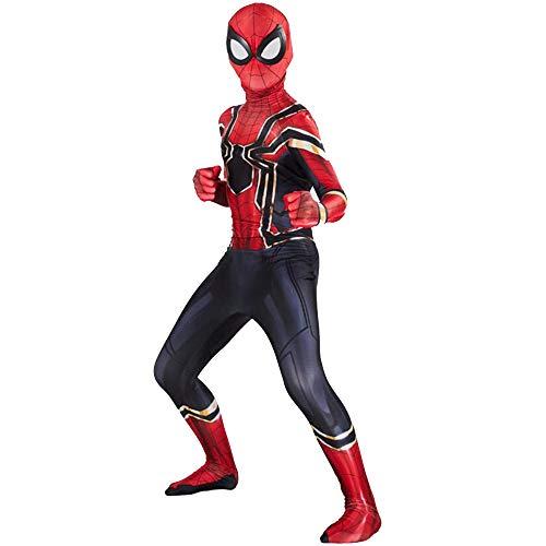 ZXDFG Disfraces Spiderman Niño,Superhéroe Disfraz Spiderman Niño Homecoming Halloween Navidad Traje Spiderman Niño Cosplay Máscara,Máscara y Disfraz Independientes,Spandex/Lyc