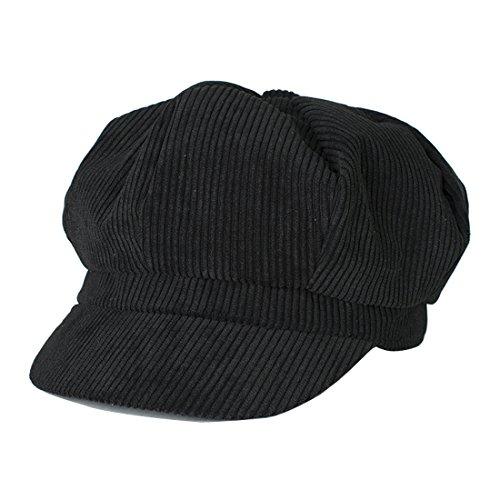 Kuyou Kuyou Winter Gatsby Newsboy Barett Cap Schirmmütze Kappe Hut, Einheitsgröße, Schwarz