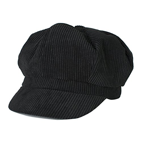 Kuyou  Winter Gatsby Newsboy Barett Cap Schirmmütze Kappe Hut, Einheitsgröße, Schwarz