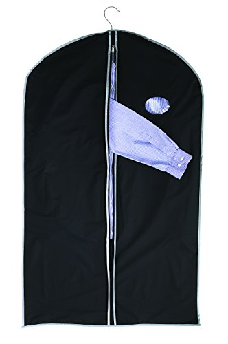 Saco para Ropa Móvil Funda para ropa negro 100 x 60 cm en