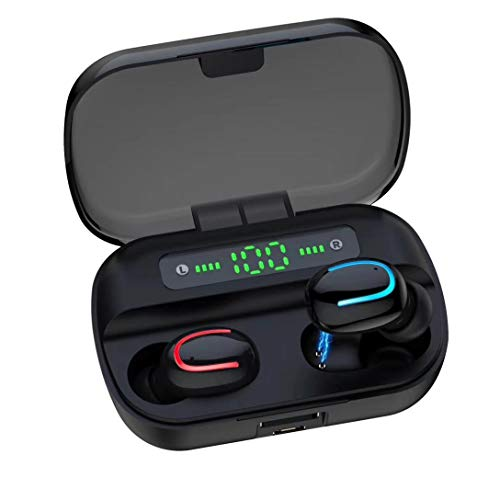 TWS Headphones Wireless Earbuds Earphones for Moto X Pure Edition, True Wireless Stereo Headset Hands-Free Mic Charging Case Compatible with Motorola Moto X Pure Edition