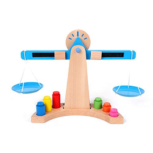 FEEE-ZC Kids Weight Balance Scale Timber Set Early Learning Educational Toys Math Gifts