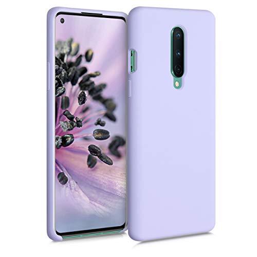 kwmobile Hülle kompatibel mit OnePlus 8 (2020) - Hülle Handyhülle gummiert - Handy Hülle in Pastell Lavendel