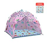 M-Home Pop-Up-Spiel-Zelt, Beweglicher Sonnenschutz Shelter Camping-Zelt for Kinder Und Erwachsene Kommen Mit Carry Reisetasche Heringe (Color : Pink)