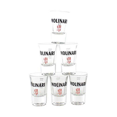 Molinari Gläser 6er Set geeicht bei 2cl Shot Glas ~mn 731 0964
