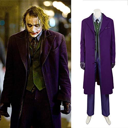 Rubyonly Batman Déguisement The Dark Knight Joker Costume d'Halloween Cosplay pour hommes, ensemble personnalisé, fabriqué à la main, XXXL