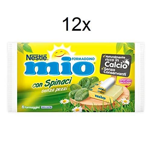 12x Nestlè Formaggino Mio Spinaci Käse mit Spinat Frischkäse reich Kalzium 125g