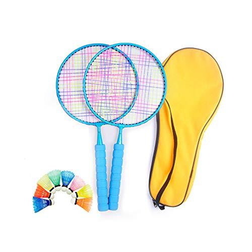 NBCDY Badminton-Set für Kinder mit Schlägern, Junior-Schlägerspiel Strandspielzeug, Anfänger, für Kinder Sportzubehör für Sportspiele im Innen- und Außenbereich