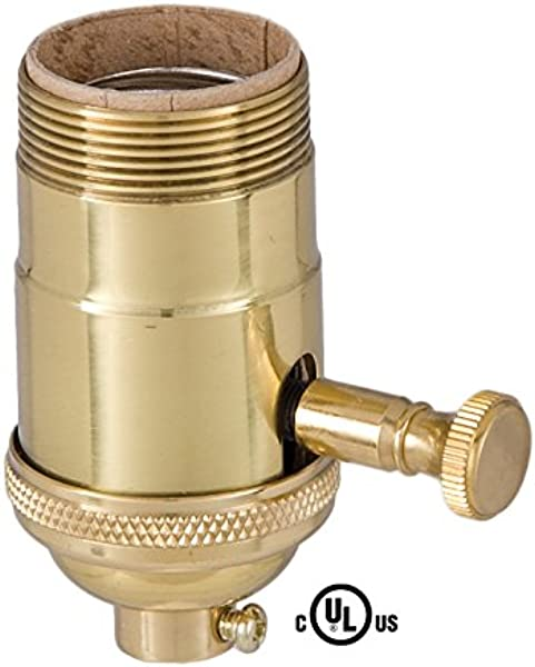 B P Lamp Edison Size Full Dimmer Socket In Brass With UNO Thread