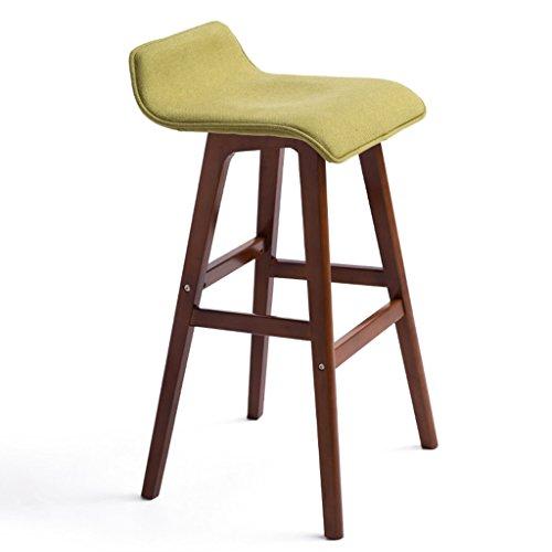 BOBE SHOP Minimaliste, bois massif, coton lin Coussin bar réception européenne chaise en bois banc Vintage Tabouret de bar hauteur 65cm, et 74cm (Couleur : B, taille : 65cm)