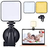 Webcam Light Video Conference Lighting - Video Conferencing Laptop Computer Light Kits for Remote Working Zoom Calls Self Broadcasting and Live Streaming with Suction Cup Cube Mounts and Sturdy Clip