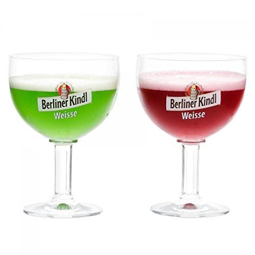 Ritzenhoff 2er Set Berliner Kindl Weisse Gläser 300 ml | Bierglas Pokal mit Eichstrich bei 0,3L | edle Biertulpe auf hohem Fuß