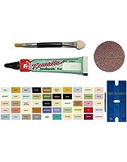 MY-B-Style Emaille lakpasta reparatieset voor badkamer, tegels, keramiek, autolak, fiets, hout, laminaat en nog veel meer in een praktische set met 8 ml olifantemaille, kunststof spatel en penseel in verschillende kleuren
