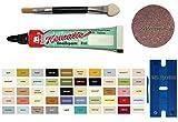My-B-Style - Pasta de esmalte para reparación de baño, azulejos, cerámica, pintura de coche, bicicleta, madera, etc., en un práctico juego de 8 ml de esmalte de elefante, espátula de plástico y pincel