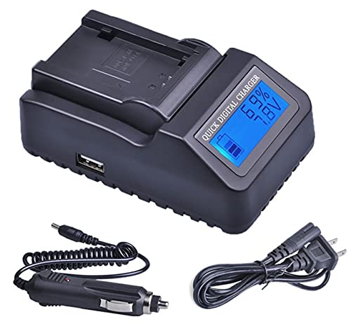 HANXIAOLONGA Battery Charger for Canon LEGRIA HF R36, R37, R38, R46, R47, R48, R56, R57, HF R66, R67, R68, R76, R77, R78, HFR78 HD Camcorder (Color : 1x LCD Quick Charger)