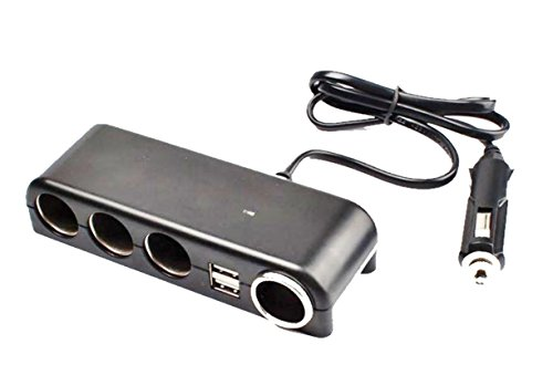 Multiprise Allume-Cigare 2 USB 4 Ports- Chargeur Voiture Double USB 4 Prises