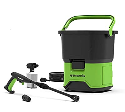 Greenworks Tools 5104507 GDC40 DC Portable Cordless Pressure Washer, 40 V, Green from Greenworks