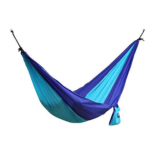 Rebecca Mobili Amaca Letto Sospeso Nylon Blu Monoposto Peso Max 120 kg Terrazza Campeggio Viaggio Escursioni con Sacca L 275 x D 136 cm (cod. RE6314)