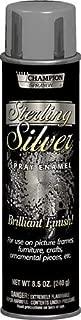 Silver Metallic Spray Paint, Sterling Champion Sprayon 8.5oz Can, Box of 3
